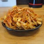 椿ラーメンショップ - 無料の豆もやしキムチ