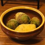 aniko - オリーブの肉詰めフリット クレマフリッタ