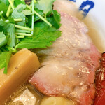 らぁめん 葉月 - 拡大(汐特ワンタン麺)