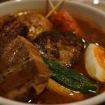 北の炎帝 - ハンバーグカレー+角煮