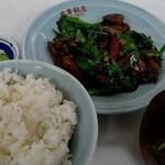 鳳華飯店 - ニラレバ炒め