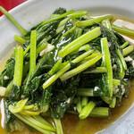 味仙 - 青菜炒めです 台湾の炒め物のイメージはありますが雑な感じですw