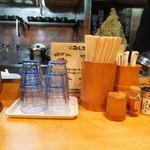 麺場 七人の侍 - カウンターの様子