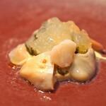 Il Lato - 牡蠣とミル貝 柚子風味のしじみとハマグリのジュレで