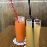 野菜ビストロ レギューム - 人参ジュース、ブラッドオレンジ
