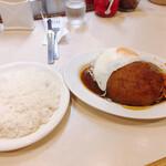 洋食 おなじみ - 料理写真:ハンバーグ ¥720 ライス ¥200