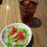 ブリーズィーカフェ - サラダ&アイスティ