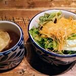 赤坂焼肉 KINTAN - サラダとスープ