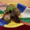 賛否両論 - 料理写真:【先付け】タコの柔らか煮と茄子の煮浸し