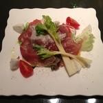 15412253 - (サンダニエレ産)生ハムとフレッシュチーズサラダ