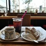 サザコーヒー - (2021/6月)サイフォンコーヒーと本日のケーキ(栗)