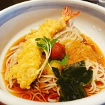 切田屋 - 料理写真:海老天付き梅おろしそば