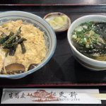 大道 更科 - 木の葉丼セット(蕎麦)