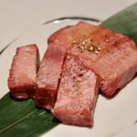 肉のひぐち直営焼肉 安福 - 特選厚切りタン塩
