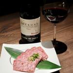 肉のひぐち直営焼肉 安福 - アマローネと上カルビ