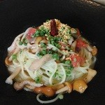 オモチャ - 柚子胡椒と茸のパスタ
