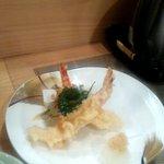 日本料理 空海 - 温ったかそばと天ぷら盛り合わせ(天ぷら第一陣)(2012.10)