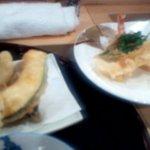 日本料理 空海 - 温ったかそばと天ぷら盛り合わせ(天ぷら第一陣+第二陣)(2012.10)