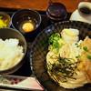 長寿饂飩 つるかめ - 料理写真:冷やしきつねぶっかけと玉子かけご飯