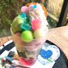 花の茶屋 - 料理写真:ハートのあじさいパフェ