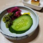 女郎鰻 割烹 福助 - 仙元重(4435円) お漬物