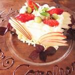 リストランテ ボルゴ・コニシ - バースデイケーキのご予約は二日前まで