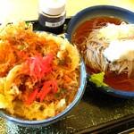 たまの里 - 料理写真:■ランチB(おろしそばとミニかき揚げ丼)