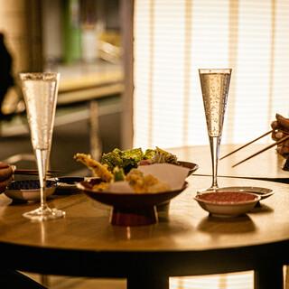カジュアルスタイルで愉しめる天ぷら酒場♪