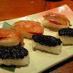 はっとり - 島寿司(飛び魚と海苔)