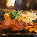 Teppanyakiebisu - オーストラリア産牛のフィレ100gと焼き野菜