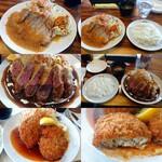 洋食 ジャンボ - ポークジンジャー・ヒレ肉のビフカツ・チキンキエフ~バジルバターソースの包み揚げ~