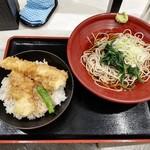 箱根そば本陣 - 大海老・いか天丼セット