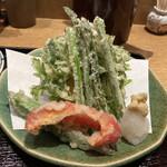 Akasakaajisai - 春野菜の天ぷらUP