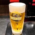 かわうめ - 生ビール