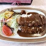 レストラン カナル - ヒレカツカレーライス(コーヒー付き/980円)
