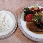 レストラン カナル - 和牛入り和風ハンバーグ(ライス・コーヒー付き/990円)