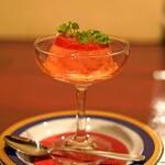 ケイブ バー - 料理写真:赤ピーマンのムース