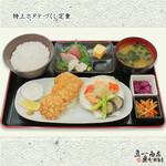 四ツ谷 魚一商店 - ランチ★特上ホタテづくし定食 1,073円(税込1,180円)