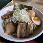 麺屋 陣丸 - 料理写真:つけ麺(塩、税込み800円)に煮卵(100円)トッピング