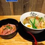 154249770 - レアチャーシュー丼&鶏塩らーめん