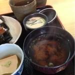 天ぷら和食 さくや - 茶碗蒸しと味噌汁