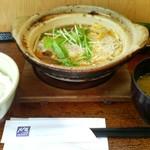 大戸屋 - 090720熟成豚ロースかつの玉子とじ鍋定食