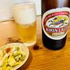 双葉食堂 - 料理写真:ビールとお新香
