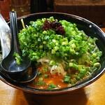 介一家 - 料理写真:ネギだくらーめん・ドラゴン(並、辛さ3) 980円
