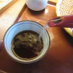 吉祥庵 - 蕎麦湯はサラサラの自然体