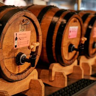 樽ワインを自分で注ぐ楽しみ。自社直輸入の【上質ワイン】