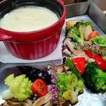 ARa - 料理写真:季節野菜のチーズフォンデュ