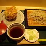 国産二八蕎麦 蕎香 - かき揚げせいろ770円。