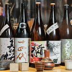 駿河屋賀兵衛 - 日本酒集合シーン