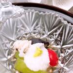 京料理 卯柳 - 冷鉢 鱧煮凝り     焼茄子 冬瓜 とまと